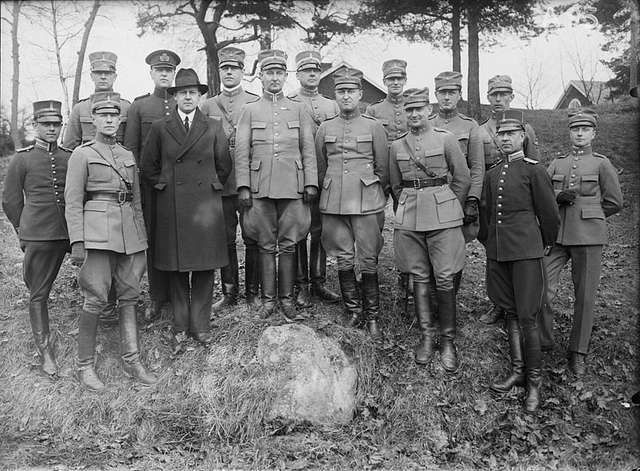 Radiokursen 1929 Officerare Kullen Frösunda