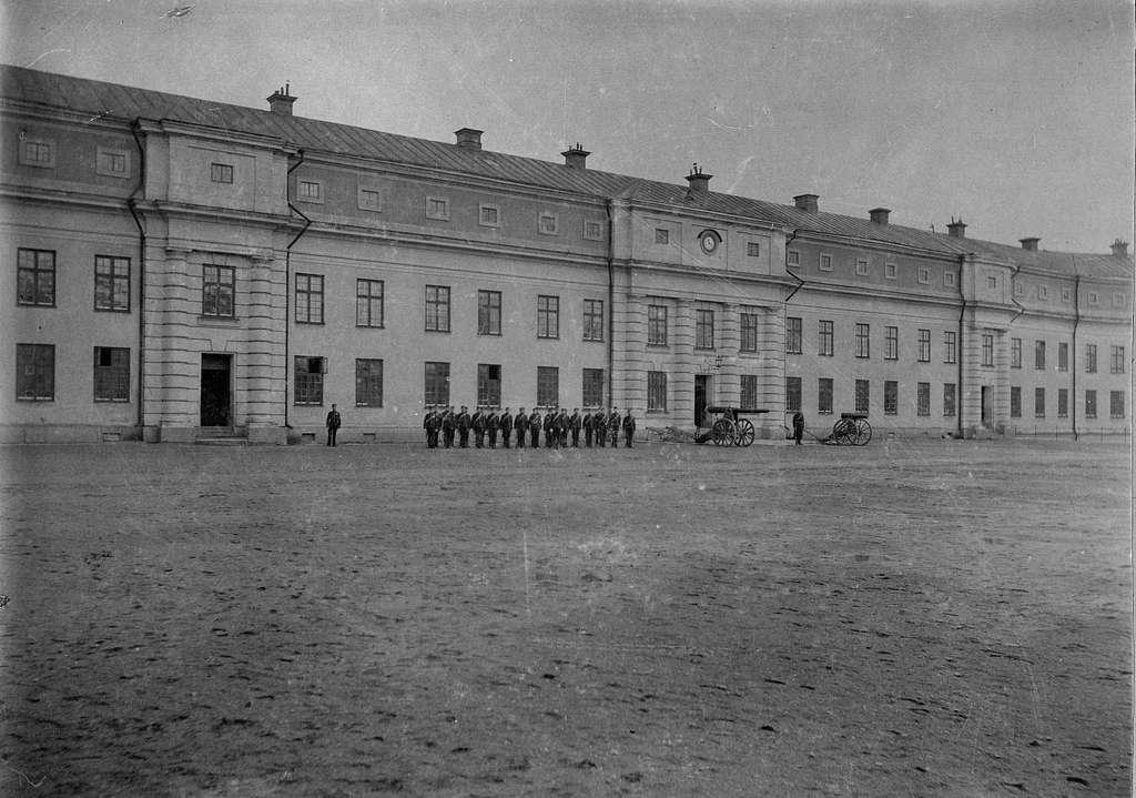Vaxholms artilleriregementes kasern i Vaxholms fästning 1929 (byggd 1863).