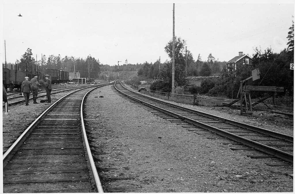 Björneborg station inför elektrifieringen.