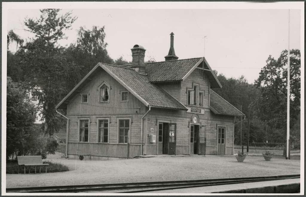Gössäter järnvägsstation.