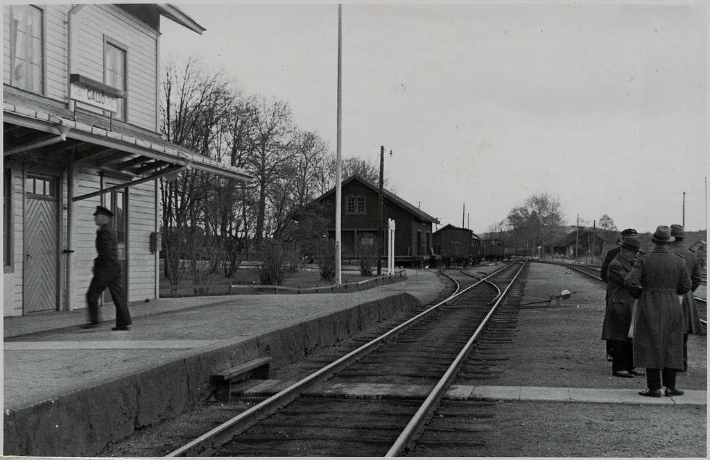 Inför elektrifieringen av Gällö station.