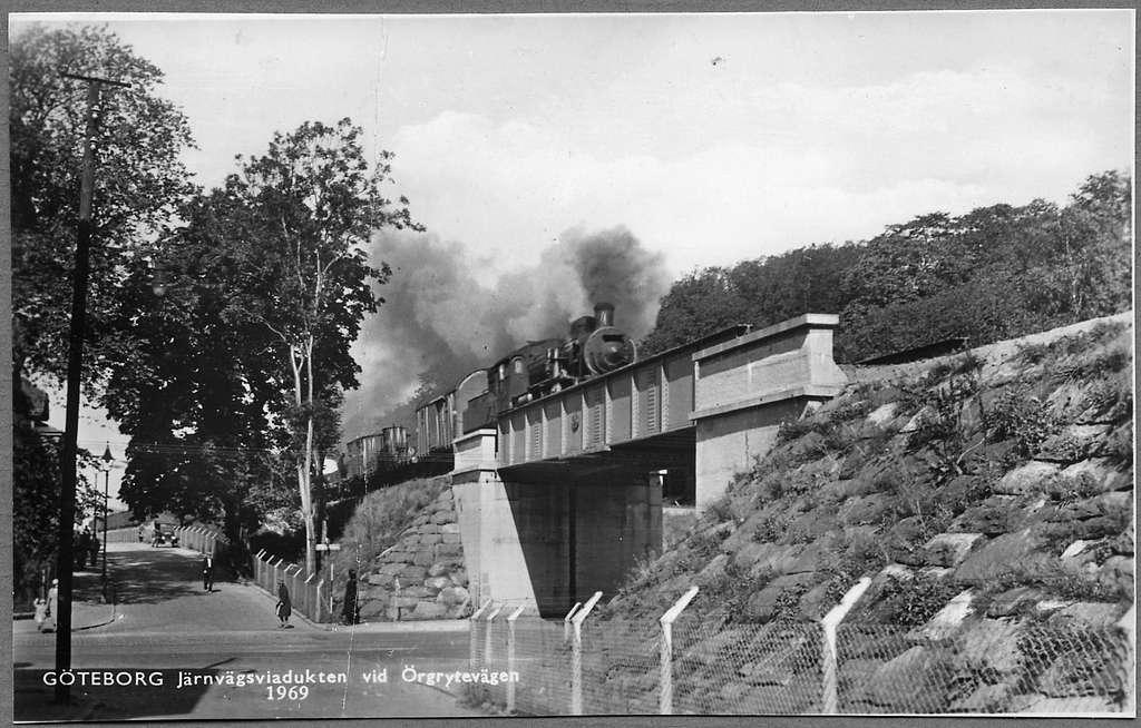 Järnvägsviadukten nära Liseberg station i Göteborg.