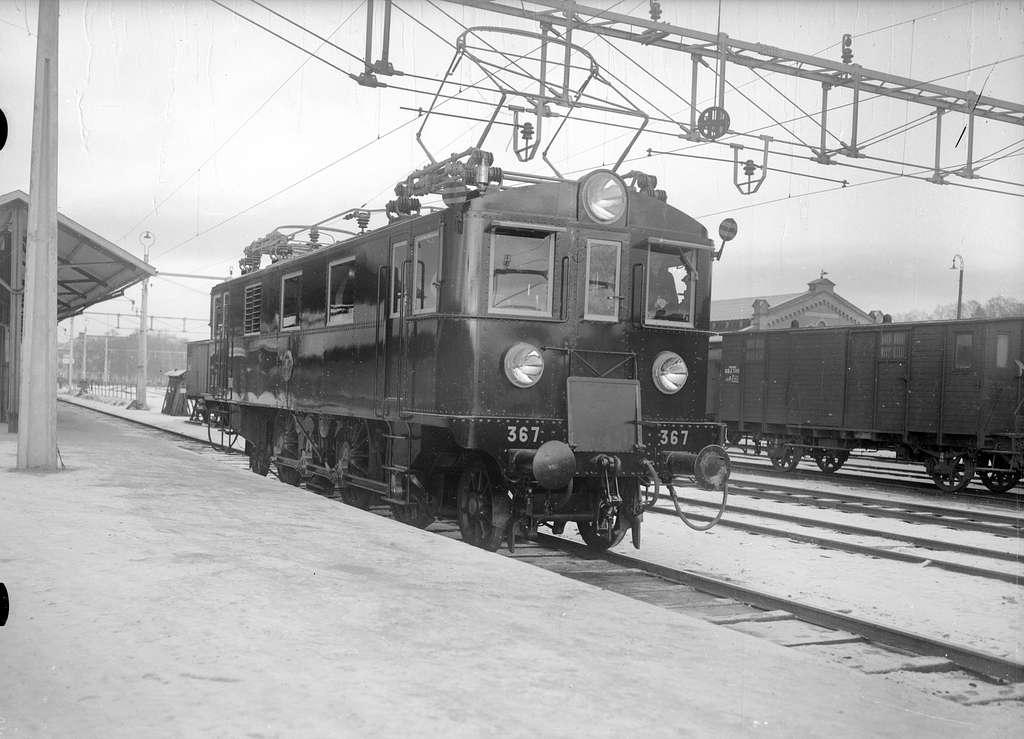 Statens Järnvägar, SJ Dg 367. Gävle - Dala Järnväg, GDJ godsvagn