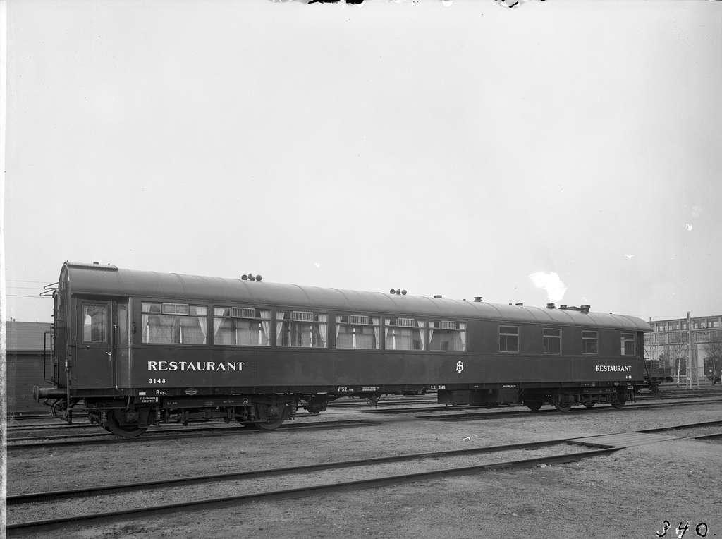 Statens Järnvägar, SJ Ro3 3148 . Vagn byggd av Kockums 1936.
