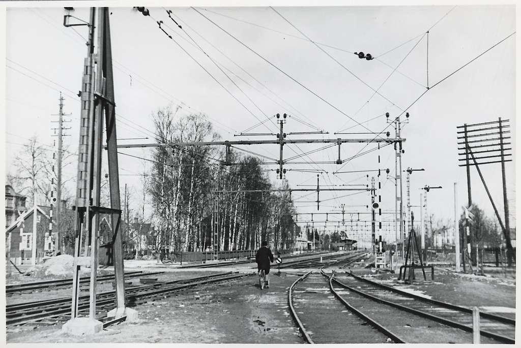 Vy mot stationsområdet i Kumla.