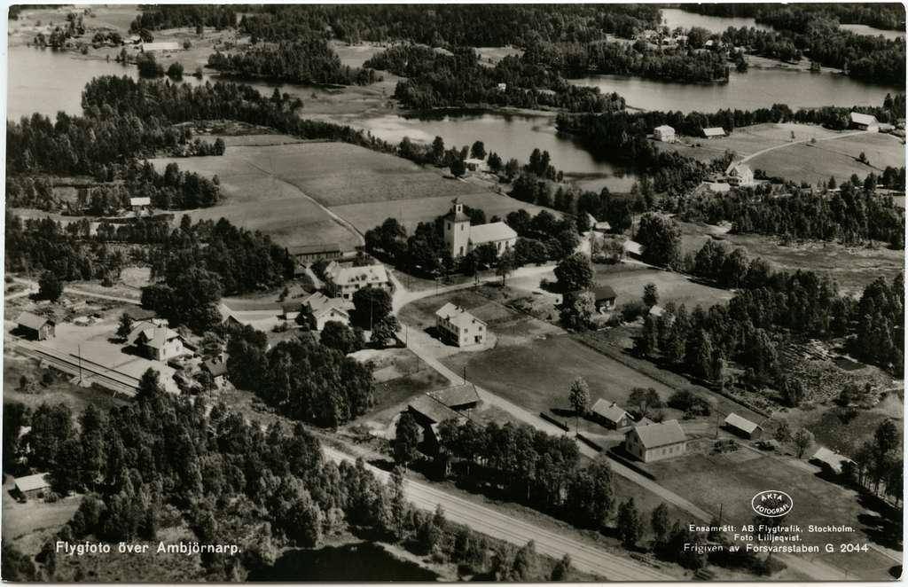 Flygfoto över Ambjörnarp.