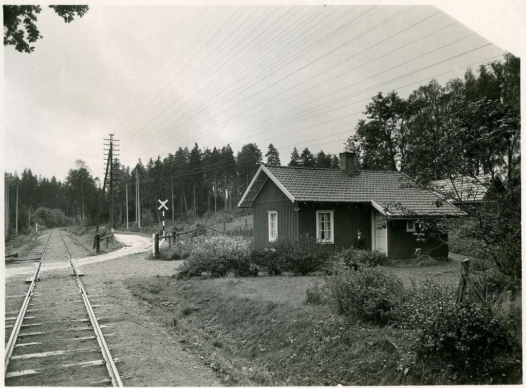 Banvaktstuga i Rudboholm med 1 rum och kök.