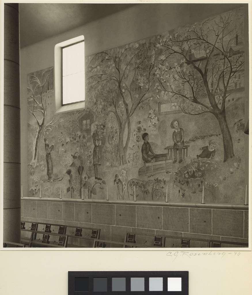 Skogskrematoriet, SkogskyrkogårdenDel av Sven Erixsons fresk i Heliga korsets kapell