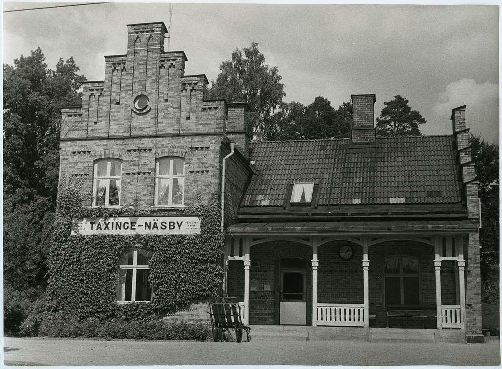 Taxinge-Näsby station. Norra Södermanlands Järnväg, NrSlJ.
