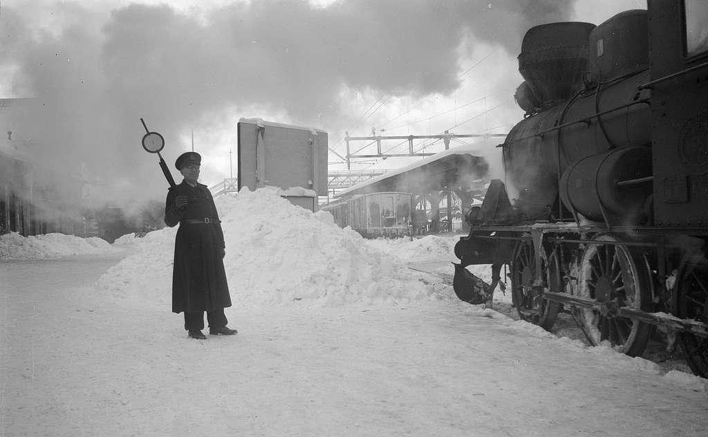 Vinter på Borås central.