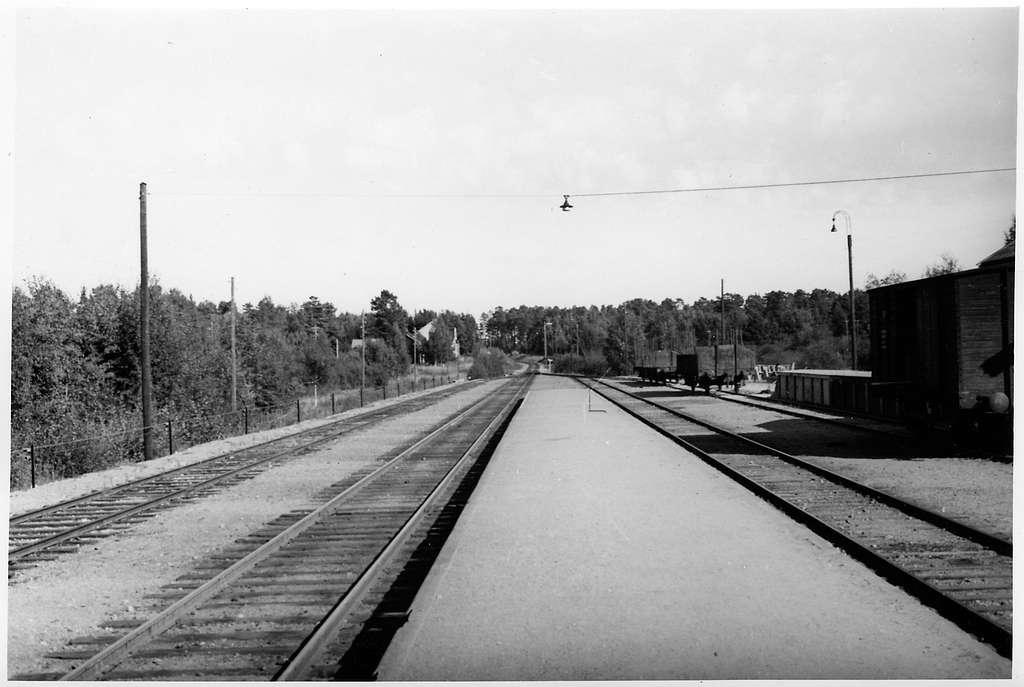 Sandarne station riktning Söderhamn.
