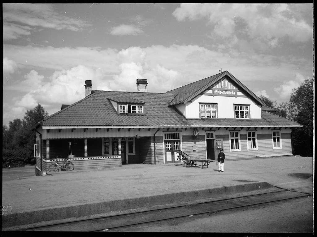 Järnvägsstationen i Björbo.