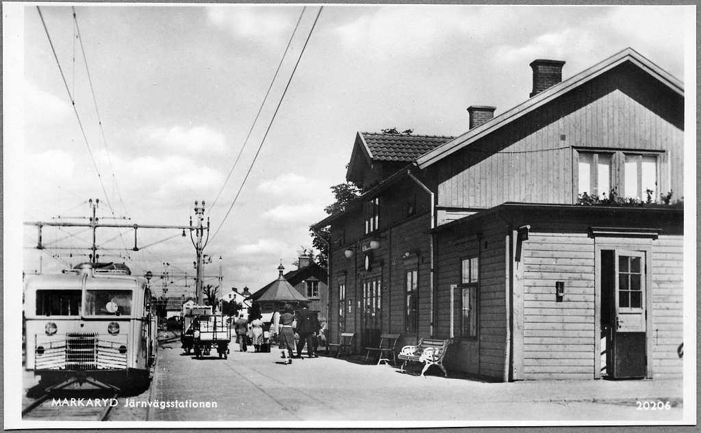 Markaryd järnvägsstation.