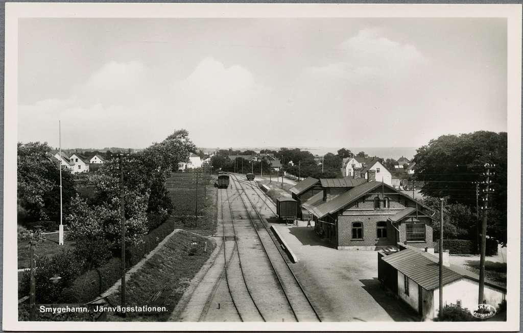 Smygehamn järnvägsstation.