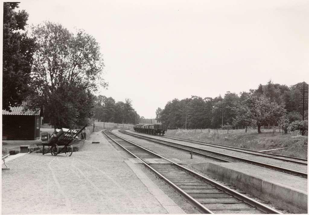 Bilden tagit söder ut från stationen. Station öppnad 1876-07-01.