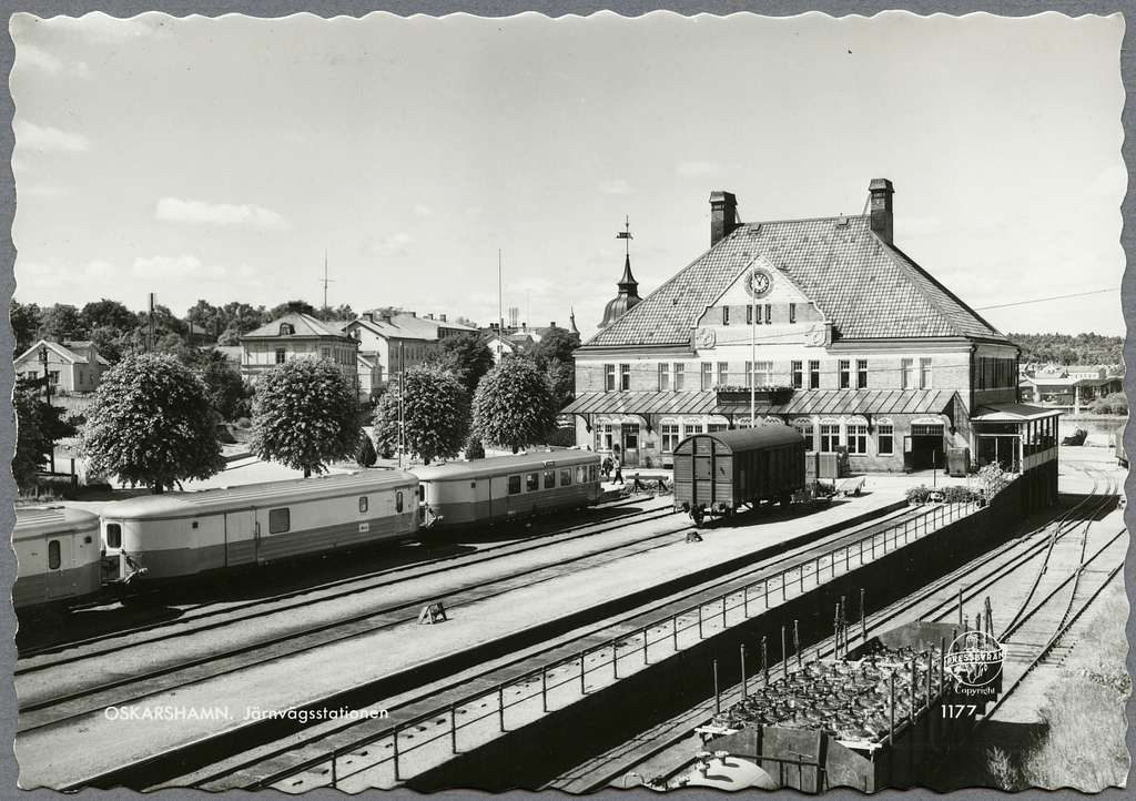Oskarshamn station.