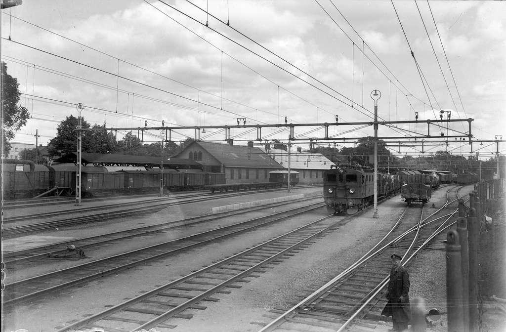 Statens Järnvägar, SJ Da lok, vid Växjö station.
