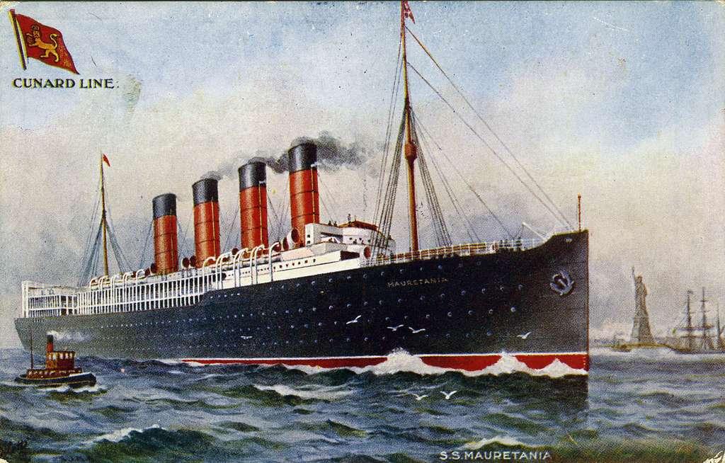 "Cunard Line. S.S. MauretaniaRaphael Tuck & Sons`""Oilette"" Postcard No. 9268..."