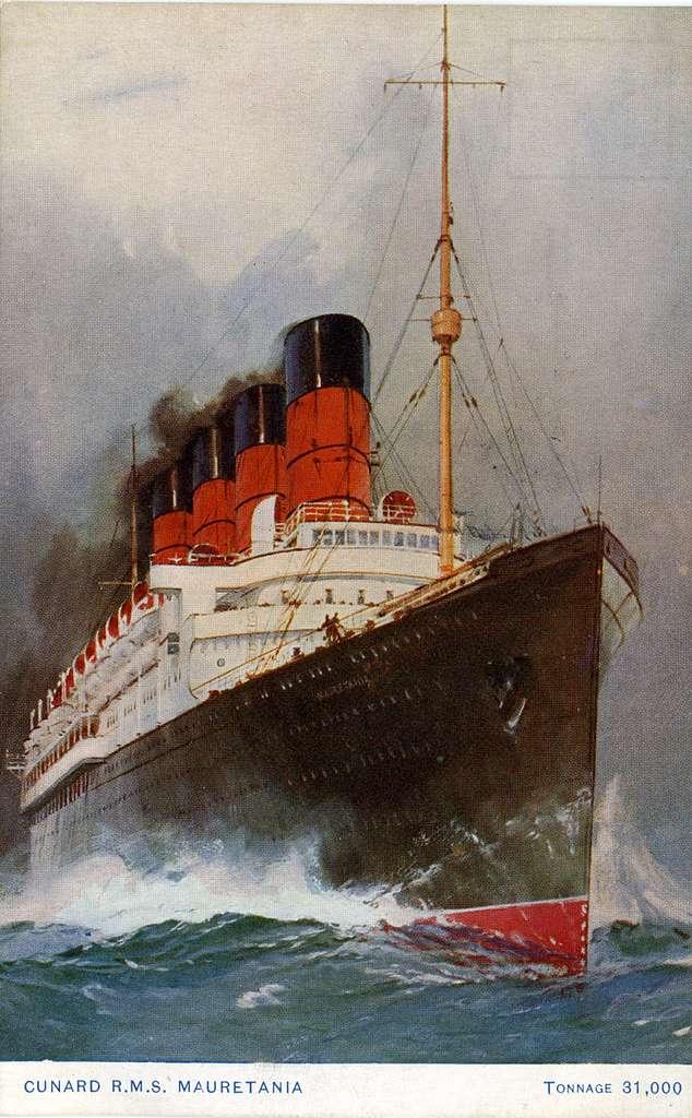Cunard R.M.S. Mauretania. Tonnage 31,000