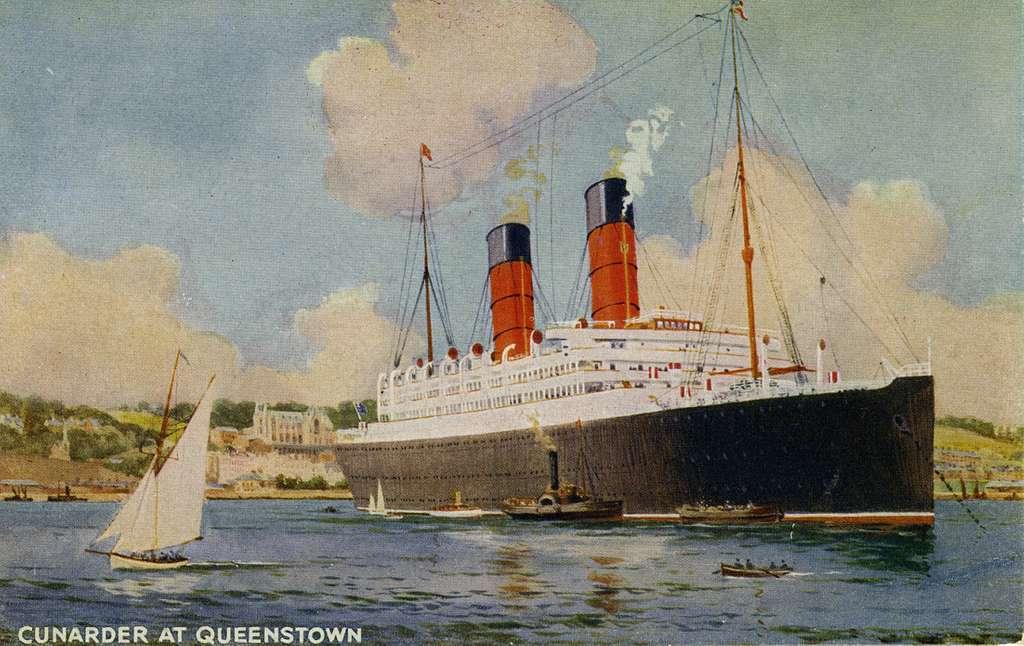 Cunarder at Queenstown