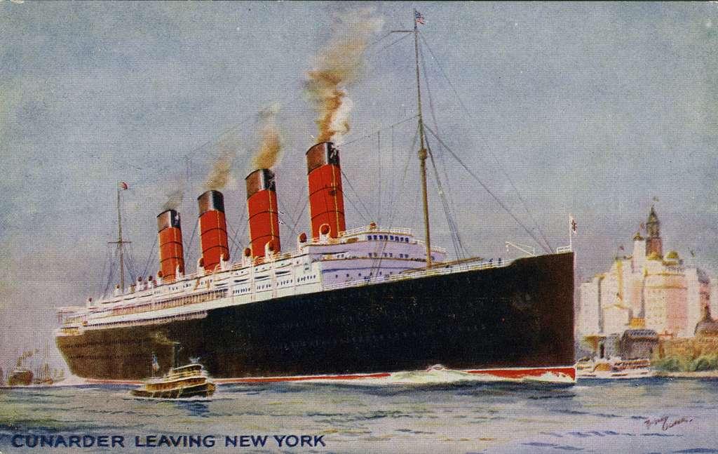 Cunarder leavin New York