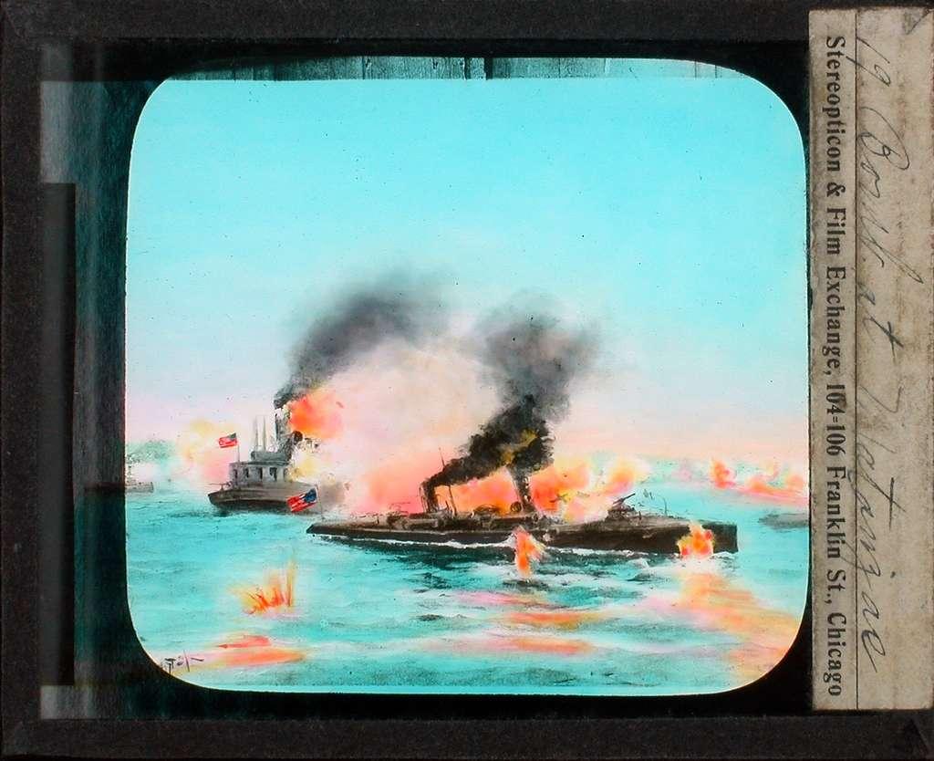 Kolorerade fotografier. Bombning av Matanzac