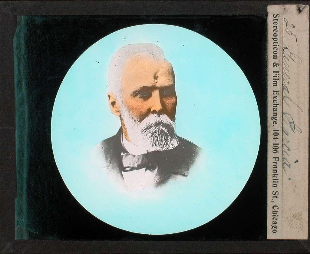Kolorerade fotografier. Porträtt av general Garcia.