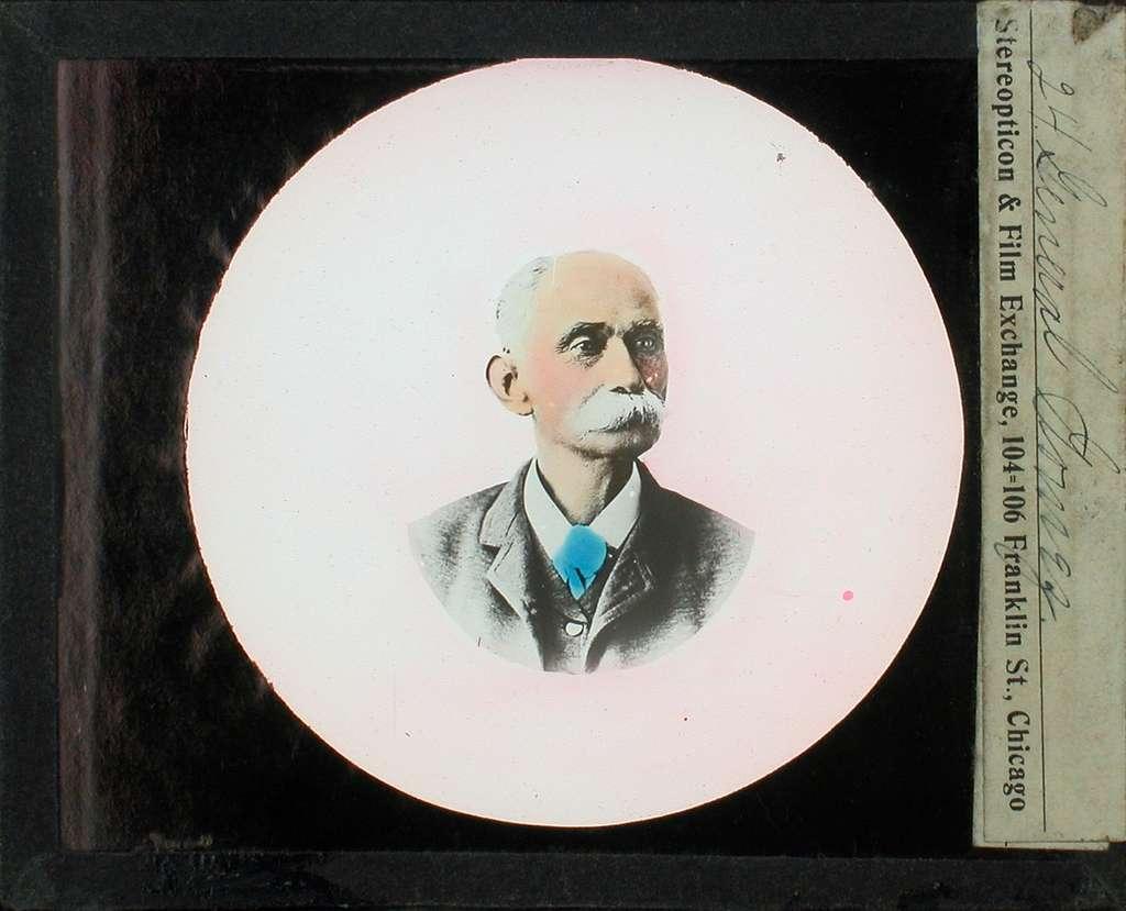 Kolorerade fotografier. Porträtt av general Gomez.