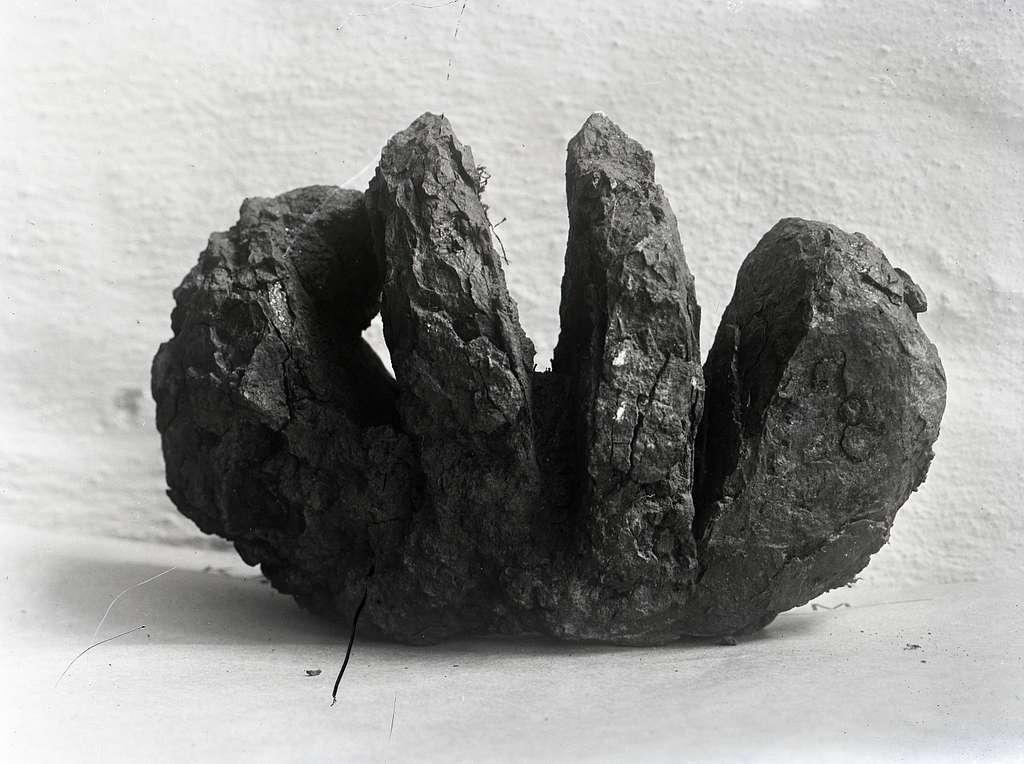 Bilden visar ett stenföremål.