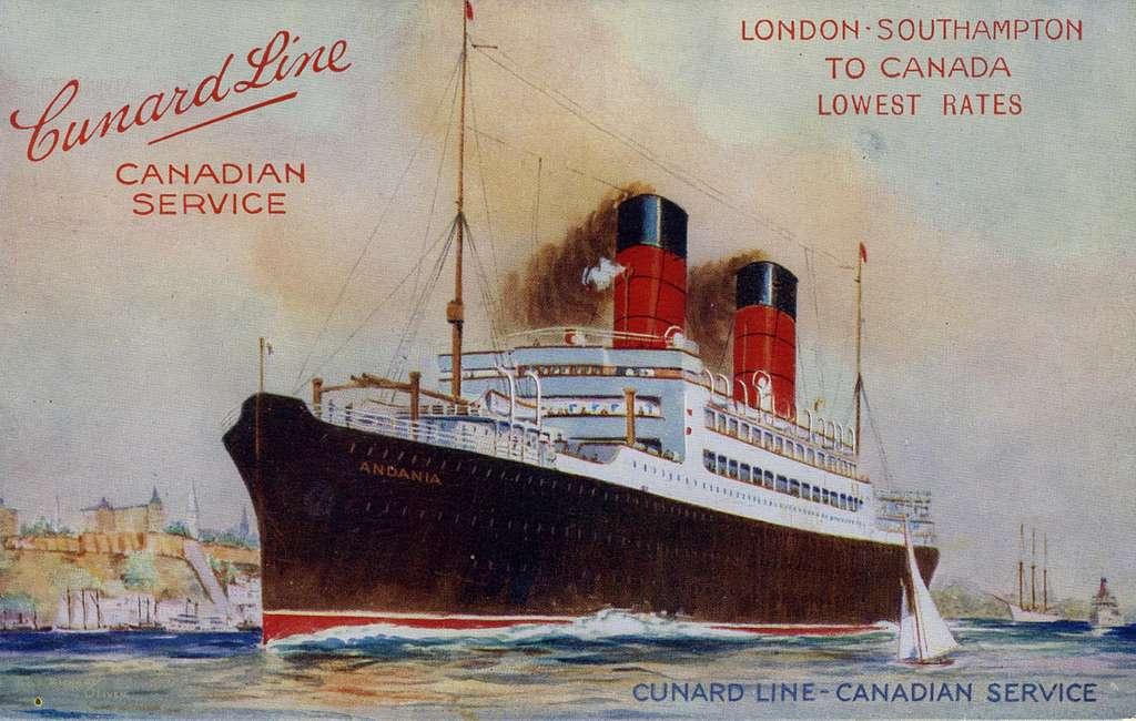 Cunard Line, canadian servicelondon - SouthamptonTo Canadalowest RatesCunard Line-Canadian service Avenue 3, Bay 34